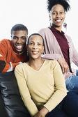 Groepsportret van familie — Stockfoto