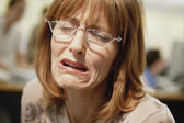 Businesswoman crying — Stock Photo