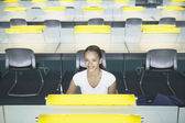Portrait of woman in office — Stock Photo
