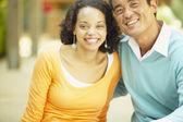 Portrait of couple smiling — Stock Photo