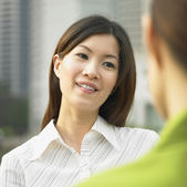 Two women talking — Stock Photo