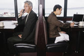 Two businesspeople in restaurant — Stok fotoğraf