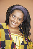 Portrait of African woman with braids — Stock Photo