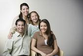 Portrait of Hispanic family — Stock Photo