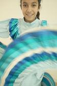Hispanic girl dancing — Stock Photo