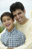 Portrait of father with young son — Stock Photo