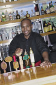 Portrait of male bartender — Stock Photo