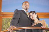 Portrait of couple in house — Stock Photo