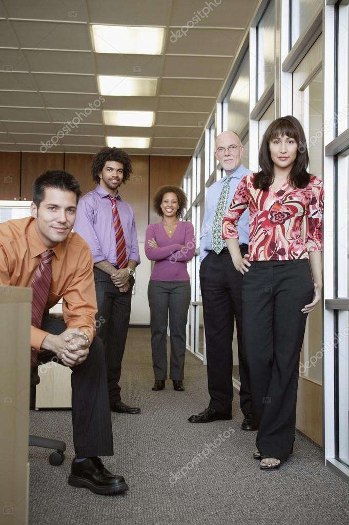 Group portrait of business  Stock Photo #13233352