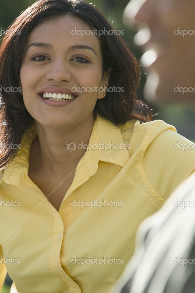 Portrait of woman smiling — Stock Photo #13236556