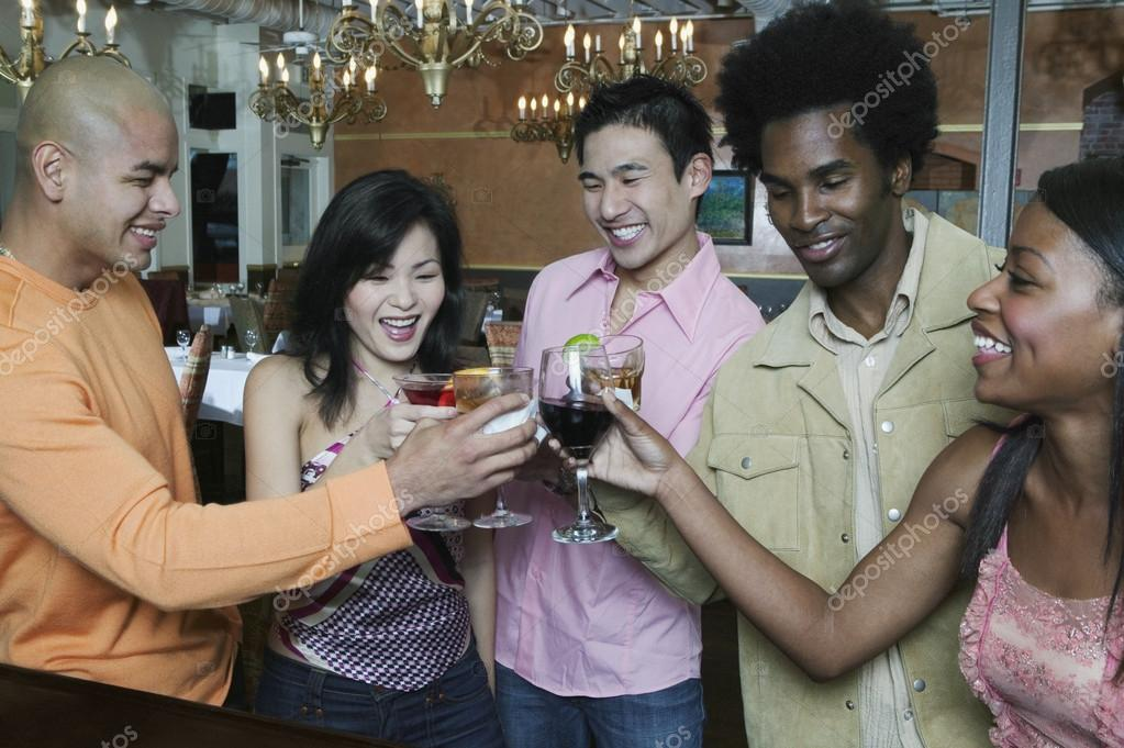 Friends toasting each other — Stock Photo #13239727