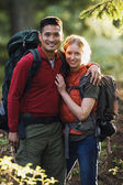 Couple hiking together — Stock Photo