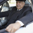 Royalty-Free Stock Photo: Portrait of chauffeur in car