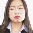 Close up of frustrated businesswoman - Stock Photo