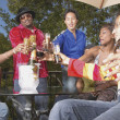 Friends toasting at party — Stock Photo