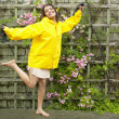 Stock Photo: Portrait of womin raincoat
