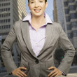Businesswoman posing for the camera — Stock Photo