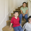 Portrait of brothers with sister — Stock Photo