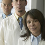 Group portrait of doctors — Stock Photo #18572575