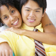 Portrait of couple hugging — Stock Photo