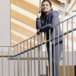 Female executive on mobile - Foto Stock