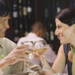 Couple toasting in restaurant — Stock Photo #18575321