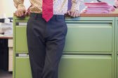 Midsection of businessman — Stock Photo