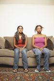 Retrato de duas adolescentes — Foto Stock