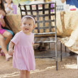 Toddler girl at party — Stock Photo