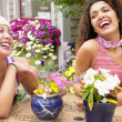 Mother and daughter laughing — Stock Photo #23218830