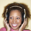 Woman with headset on — Stock Photo #23219552
