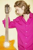 吉他的男人 — 图库照片