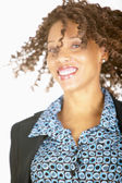 Woman tossing hair — Stock Photo