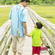 Father and son going fishing — Stock Photo