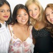 Group portrait of female friends — Stock Photo