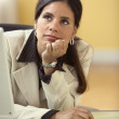 Businesswoman daydreaming — Stock Photo