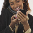 Businesswoman talking on telephone - Stock Photo
