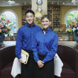 Portrait of wait staff in restaurant — Stock Photo