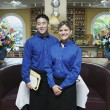 Portrait of wait staff in restaurant - Stock Photo