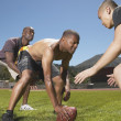 Friends playing football — Stock Photo #23221620