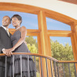 Stock Photo: Portrait of couple in house