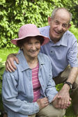 Portrait of elderly couple — Stock Photo