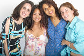 Group portrait of female friends — Stock Photo