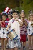 Portrait of children in 4th of July parade — Stok fotoğraf