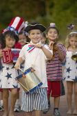 Portrét dětí v 4. července parade — Stock fotografie