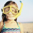 Royalty-Free Stock Photo: Portrait of girl wearing snorkeling gear