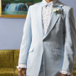 Portrait of young man in tuxedo - Stock Photo