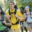 Group of friends hiking — Stock Photo #23232328