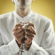 Young man praying — Stock Photo