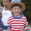 Children at Fourth of July parade - Stock Photo